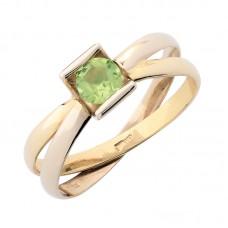 auksinis žiedas su peridotu
