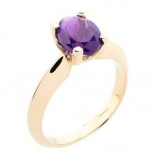 auksinis žiedas su ametistu