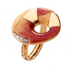 auksinis žiedas su emale