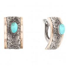 sidabriniai auskarai su turkiu
