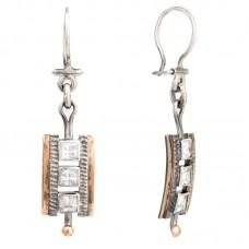 sidabriniai auskarai su cirkoniais