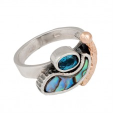 sidabrinis žiedas su perlamutru
