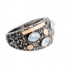 sidabrinis žiedas su topazu